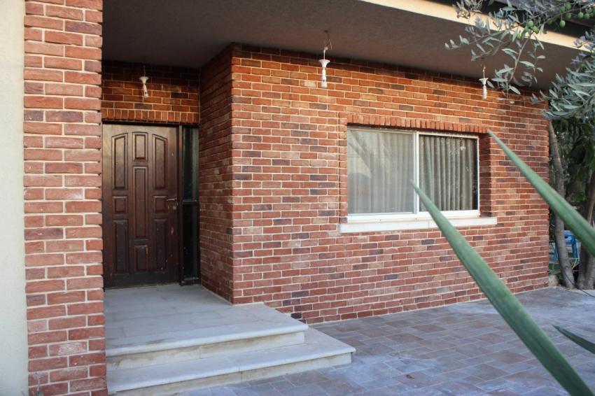 קיר בריקים כניסה לבית